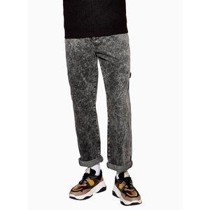 Topman Grey Acid Wash Original Fit Jeans